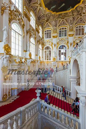 Jordan Staricase and hall, The Hermitage Museum, St. Petersburg, Russia