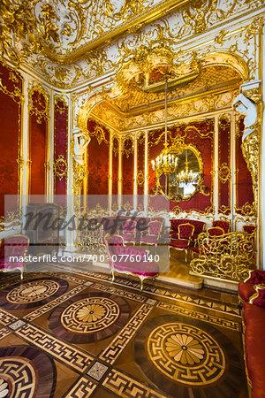 Crimson Room (The Boudoir), The Hermitage Museum, St. Petersburg, Russia