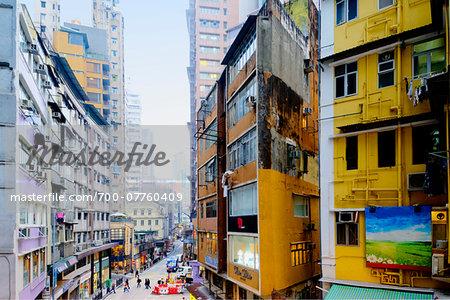 Highrise Buildings, Central District, Hong Kong Island, Hong Kong, China