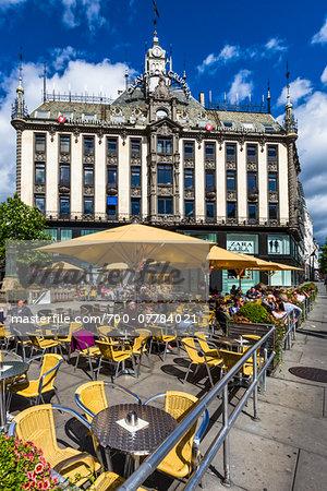 Sidewalk Cafe, Egertorget, Karl Johans Gate, Oslo, Norway