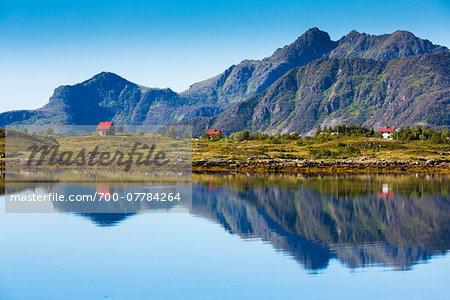 Rolvsfjord, Vestvagoya, Lofoten Archipelago, Norway
