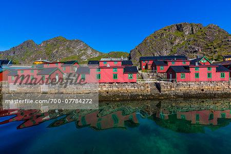Rorbuer by Water, Stamsund, Vestvagoya, Lofoten Archipelago, Norway