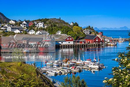 Sorvagen, Moskenesoya, Lofoten Archipelago, Norway