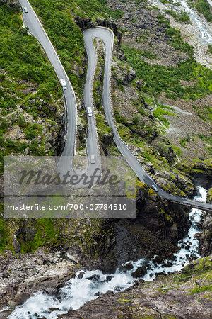 Hairpin Turn on Trollstigen, More og Romsdal, Norway