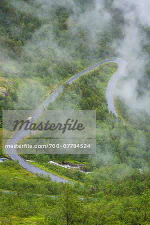 Gaularfjellet National Tourist Route between Balestrand and Moskog, Sogn og Fjordane, Norway