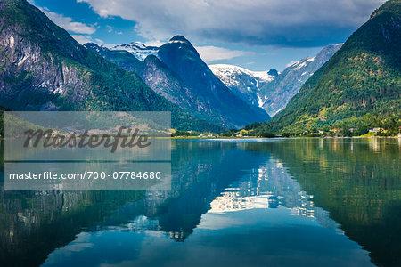 Mundal in Fjaerland, Sogn og Fjordane, Norway