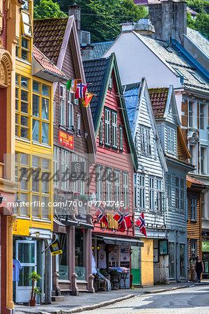 Hanseatic wharf of Bryggen, Bergen, Norway