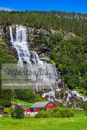 Tvindefossen Waterfall, near Voss, Norway