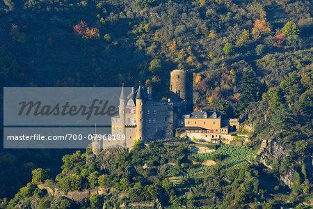 Katz Castle, Sankt Goarshausen, Loreley, Rhein-Lahn-Kreis, Rhineland-Palatinate, Germany