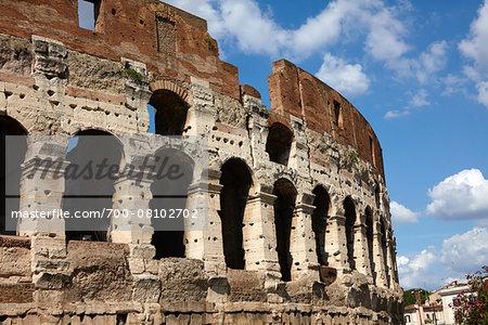 The Colosseum, ancient Rome, amphitheatre built 72-80 AD, Rome, Lazio, Italy