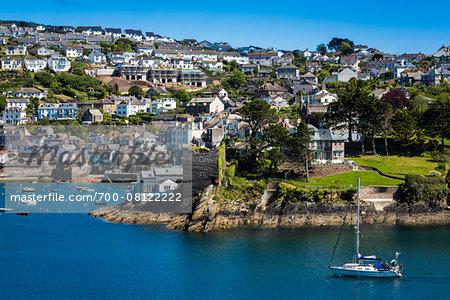 Sailboat in Harbour, Fowey, Cornwall, England, United Kingdom