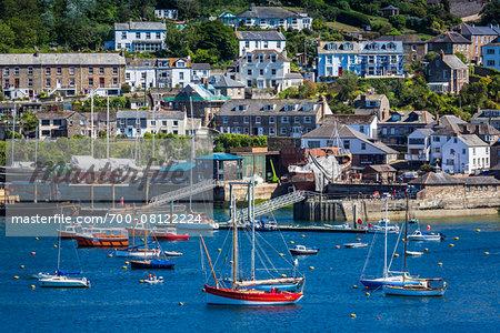 Boats in Harbour, Fowey, Cornwall, England, United Kingdom