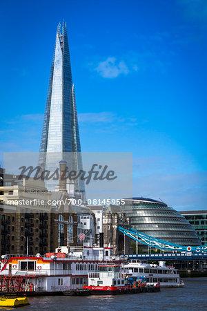 The Shard and Tower Bridge, London, England, United Kingdom