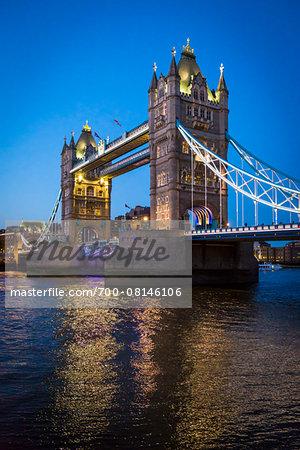 Tower Bridge at Dusk, London, England, United Kingdom