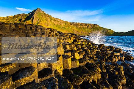 Basalt Columns at Giant's Causeway, near Bushmills, County Antrim, Northern Ireland, United Kingdom