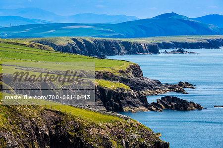 Scenic, coastal view, Slea Head Drive, Dingle Peninsula, County Kerry, Ireland