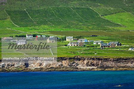 Scenic, coastal view, Glashabeg, Slea Head Drive, Dingle Peninsula, County Kerry, Ireland