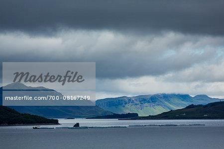 Scenic with Lake and Mountains near Luib, Isle of Skye, Scotland, United Kingdom