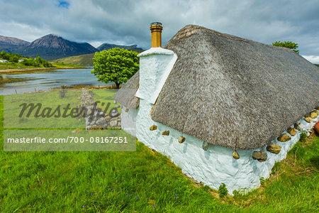 Traditional Building  near Luib, Isle of Skye, Scotland, United Kingdom