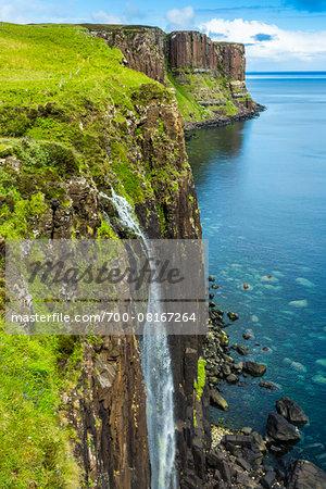 Kilt Rock and Mealt Falls, Isle of Skye, Scotland, United Kingdom
