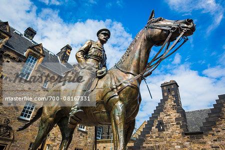 Statue of Earl Haig, Edinburgh Castle, Edinburgh, Scotland, United Kingdom