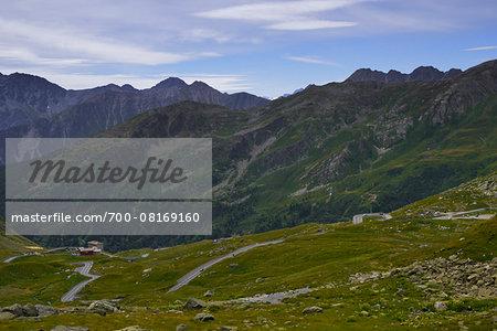 Pass Gran Bernadino (Great St Bernard Pass), Aosta Valley, Italy