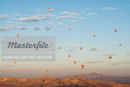 Hot air balloon tour at sunrise, Cappadocia, Nevsehir, Turkey