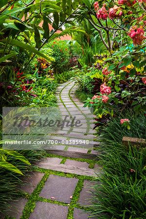 Path in Gardens in Petulu, Ubud, Gianyar, Bali, Indonesia