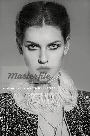 Portrait of Woman with Jewelery
