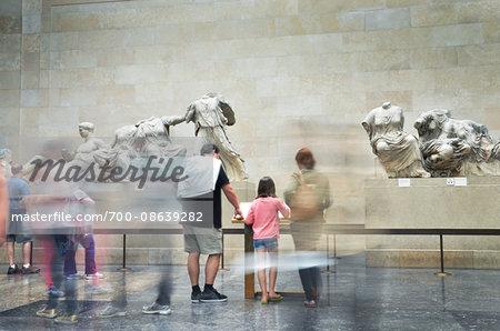 View of Tourists at British Museum, London, England, UK