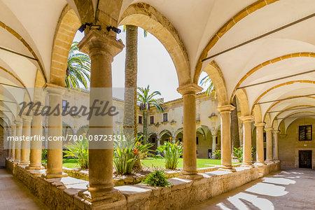 Cloisters at Vescovado Catholic Church, Caltagirone, Sicily, Italy