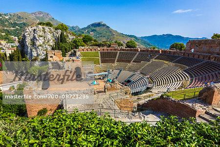 Teatro Antico di Taormina in Taormina, Sicily, Italy