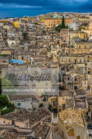 Overview of Matera, Basilicata, Italy