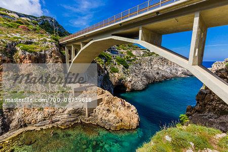 The Ciolo Bridge at Gagliano del Capo in Puglia, Italy