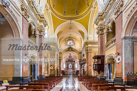 Interior of Basilica di San Martino, Martina Franca, Puglia, Italy