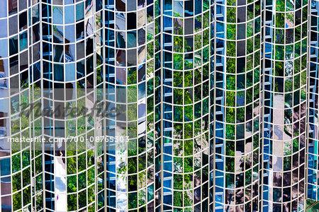 Windows of Office Building in Zagreb, Croatia