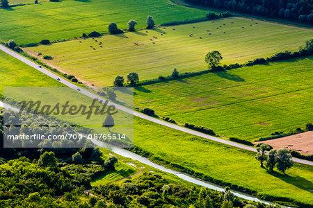 Overview of the fertile farmland in Motovun in Istria, Croatia