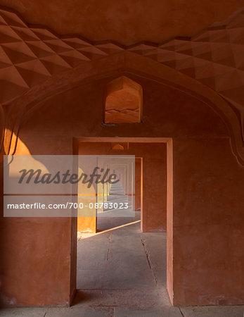 Walkway inside Taj Mahal in Agra, India