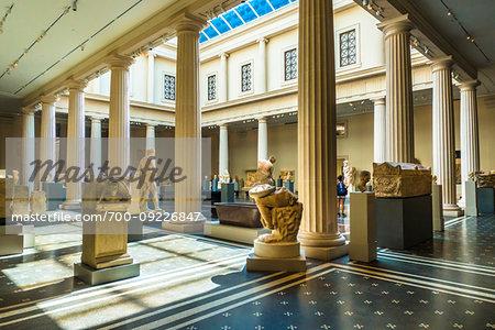 Sculpture gallery in the Metropolitan Museum of Art in New York City, New York, USA