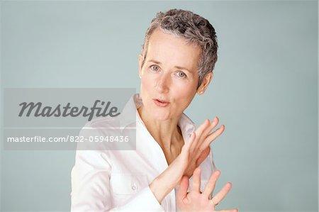 Mature Woman Gesturing
