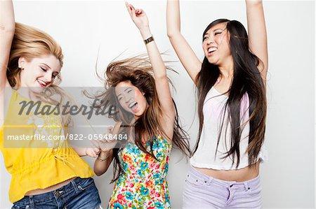 Teenage Girls Dancing and Having Fun