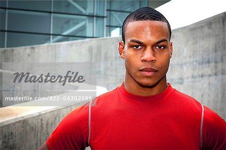 Portrait of Man in Sportswear