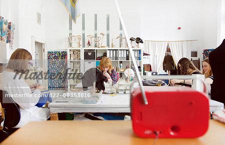 Women Working At Embroidery Design Studio Stock Photo Masterfile
