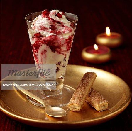 Pomegranate, Cream dessert