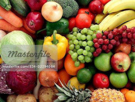 Fruit & vegetable background