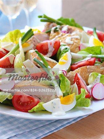 Roast Chicken Salad with Creamy Tarragon Dressing