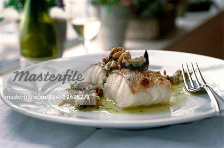 Cod with Shellfish in Garlic Butter