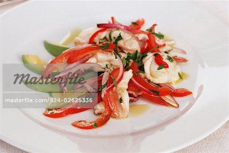 Ceviche of Monkfish Salad