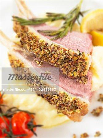Rosemary crusted lamb