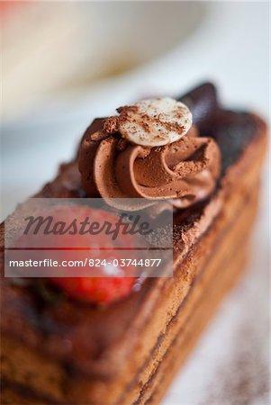 Chocolate and Strawberry Sponge Cake